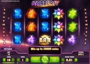 starburst on tyylikäs hedelmäpeli ja siit siihen yhteensä satoja ilmaiskierroksia