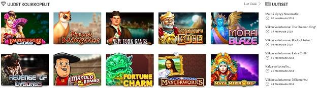 Nettikasinolta löytyy kattavin pelivalikoima eri kolikkopelejä jonka voit kuvitella