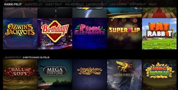 Pelivalikoimaa ja ohjelmistot luovat Dream Vegasillle parhaat komukset