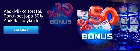 Slottica bonus -valikoima on joka päivän juhlaa